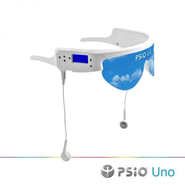 PSiO Uno lysterapi briller med indbygget MP3 afspiller.